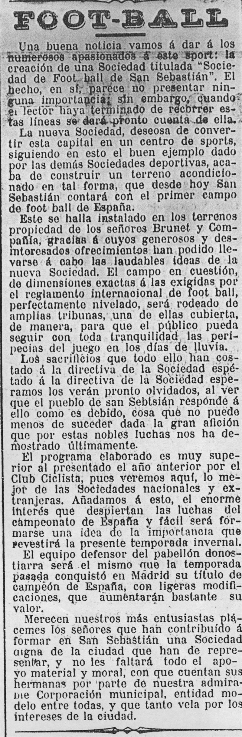 Historia - Real Sociedad de Fútbol S.A.D.