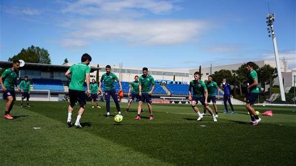 马德里的比赛后会议