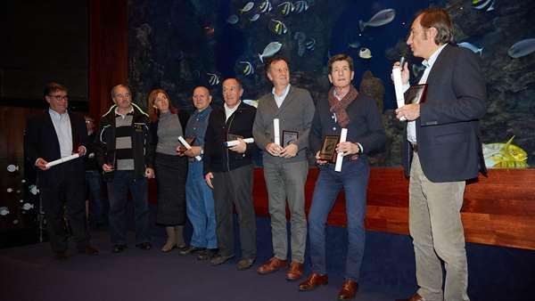 Los homenajeados en El Aquarium